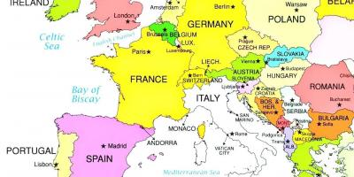 Luxembourg La Carte Cartes De Luxembourg Europe De Louest Europe